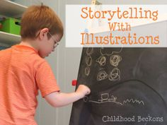Storytelling with illustrations is an entertaining way to connect. This post features tips to make it work for your family.