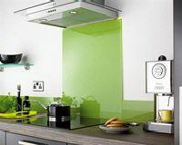 Standard Glass Splashback - Lime Green