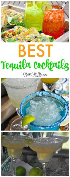 Tequila isn't everyone's first choice alcohol, if you are already a fan then these tequila cocktails are perfect for you!