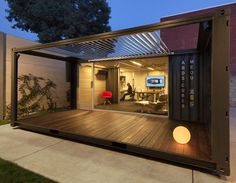 We are always inspired by the world wide community of shipping container builders. Whatever your favorite design is, Dwell Containers can… Container Home Designs, Container Shop, Building A Container Home, Container Buildings, Container House Plans, Shipping Container Office, Container Restaurant, Pavillion, Container Conversions