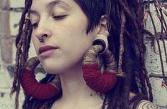 Purple Overdose  Organic Hemp earrings for by manakahandmade, £60.00