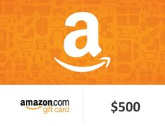 Grand Prize is a $500.00 Amazon Gift Card. Amazon.com Gift Cards may be used to purchase eligible goods and services on Amazon.com.