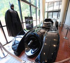 """Did you know the Batmobile from the movie """"Batman Returns"""" is on display at the Chick-fil-A headquarters?  Truett Cathy is a huge car enthusiast!"""