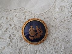 French limoges brooch porcelain by Nkempantiques on Etsy