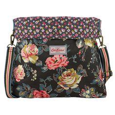 Garden Rose Reversible Roll-top Messenger