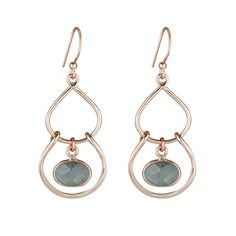 3844f7690 Selene Statement Stone Earrings - Labradorite - Nicole Fendel - a solid  sterling silver collection of stone charm pendants and earrings
