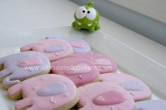 Pink Elephant Sugar Cookies