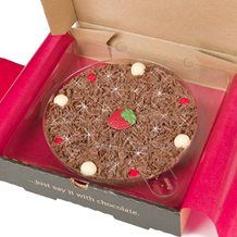 """7"""" STRAWBERRY PIZZA by The Gourmet Chocolate Pizza Company"""