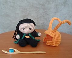 "Free ""pocket Loki"" ami pattern; personally, only need the helmet"