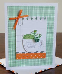 Hello there! It's that time of the month again! I just finished up my projects made with the July Paper Pumpkin kit called Thanks A Latte....