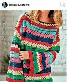 Fabulous Crochet a Little Black Crochet Dress Ideas. Georgeous Crochet a Little Black Crochet Dress Ideas. Pull Crochet, Crochet Jumper, Mode Crochet, Black Crochet Dress, Crochet Jacket, Crochet Cardigan, Knit Crochet, Crochet Flower Patterns, Crochet Designs
