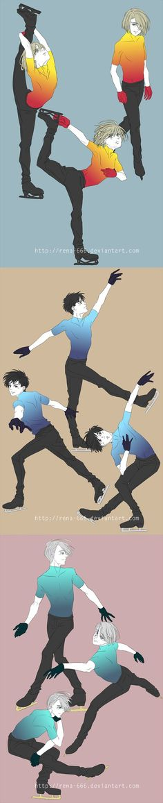 When you don`t know what to draw, draw more of skating boys. xD Various figure skating videos used as reference.