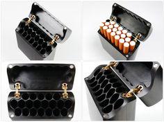 Custom Genuine Ebony Wood Case for 20X Cigarettes