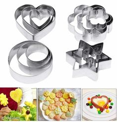 Knives & Knife Set JINPRI Cookie Cutter Material: Stainless Steel / Plastic Multipack : Single Size : Free Size Country of Origin: India Sizes Available: Free Size   Catalog Rating: ★4.2 (2594)  Catalog Name: Trendy Knives & Knife Set CatalogID_1262391 C135-SC1648 Code: 871-7745940-423