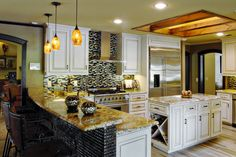 Stunning Plano Texas Kitchen Remodel Custom Cabinets, Backspash, Lighting and Counters Jenifer Rucker Designs Photos by J May Photography