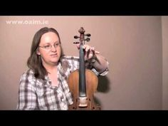 Beginner Irish Fiddle Lesson - No.1 of 6 FREE LESSONS from www.oaim.ie with Majella Bartley