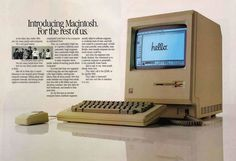 The Macintosh arrived in 1984. The world hasn't been the same since!  Mac the world!