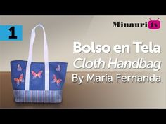 DIY - Bolso en Tela By María Fernanda Hand made Tote / Bags / Purses / Handbags / Wallet ) Hand Lettering Alphabet, Fabric Bags, Craft Tutorials, Craft Videos, Purses And Handbags, Youtube, Wallet, Tote Bags, Handmade