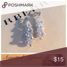Silver Beaded earrings Beautiful silver hand beaded earrings. Acquitted Apparel Jewelry Earrings