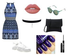 """""""Blue"""" by just-another-vain-person ❤ liked on Polyvore featuring JuJu, Lime Crime and Urban Decay"""