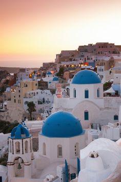 Sunset in Oia, Greece