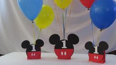 Mickey Mouse Party Balloon Centerpiece by DreamComeTrueParties, $12.00