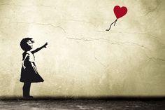 BANKSY Wandtattoo Ballon Mädchen mit Herz - ein Designerstück von UrbanARTBerlin bei DaWanda