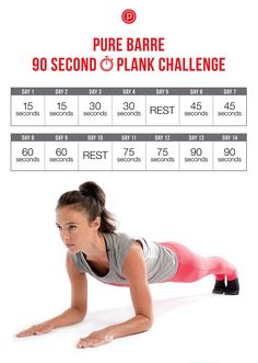 Pure Barre 90 Second Plank Challenge