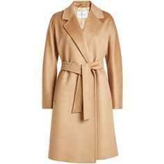 Max Mara Camel Hair Coat (145.950 RUB) ❤ liked on Polyvore featuring outerwear, coats, jackets, camel, beige coat, cold weather coats, beige camel coat, camel coat and camel hair coat