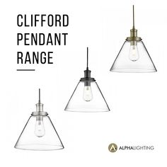 Take a look at our Clifford Pendant Range. A timeless translucent glass shade with a simple metalwork lampholder and cord. It's a great way to add design flare to a room with out overpowering it's surrounding architecture. They look great as a standalone pendant light, hung in line over breakfast bars and kitchen islands, or clustered together to make a design statement in your home. #alphalightingnz #lighting #creativelighting #pendant #decorative #pendantlighting #decorativelighting