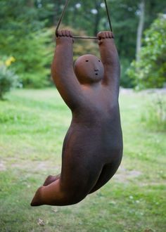 Joy Brown - wood-fired ceramic figures...love this, but wished she had a bigger smile....looks like she is having fun!!!!!: