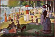 Sunday Afternoon on the Island of La Grande Jatte, oil on canvas by Georges Seurat, c. 1884 (Pointillism)