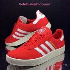 adidas Originals Mens Trimm Trab Trainers Red sz 10 Munchen Sneaker US 10.5 44.6  | eBay