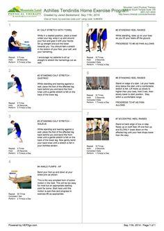 Achilles tendinitis home exercise program