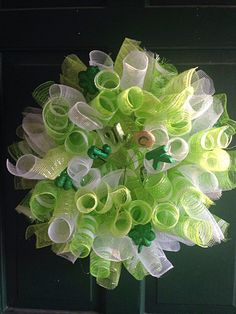 St Patricks day Patrick's day wreath Irish by FunWithWreaths