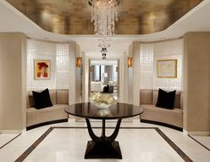 Silver Leaf Ceilings That Inspire Decadence (PHOTOS)