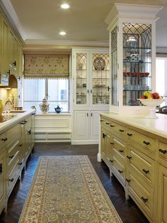 """traditionally styled kitchen."