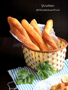 Youtiao (Chinese oil stick) - Chinese Cruller - a traditional Chinese snack. Youtiao in fact is deep-fried Chinese breadstick.