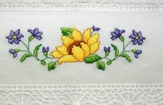 This Pin was discovered by sıd Small Cross Stitch, Cross Stitch Bird, Cross Stitch Borders, Cross Stitch Flowers, Cross Stitching, Cross Stitch Embroidery, Embroidery Patterns, Hand Embroidery, Cross Stitch Patterns