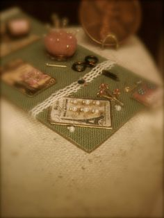Miniature vintage style sewing collection by EarthenVesselMLacy