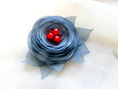 Brooch Accessories Brooch flower Clip for hair by LidiaAndVary