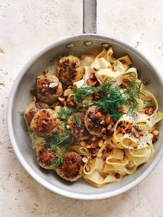 Almond And Fennel Swedish Meatball Pasta | Donna Hay