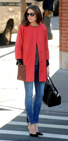 Olivia Palermo always wears  interesting coats and jackets