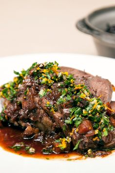 This stunning braised whole beef shin recipe is a warming delight.