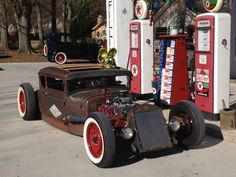 1930 Ford Model A Coupe -TNT Rat Fink Coupe At Where Else But the Gas Station!hahaha