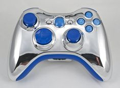 Silver Chrome Xbox 360 Modded Controller