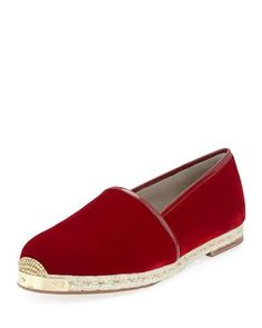 Giuseppe+Zanotti+Velvet+Slip+On+Espadrilles+Burgundy+|+Sandals,+Shoes+and+Footwear
