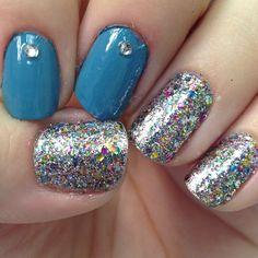 Betsey Johnson nails #glitter #nails #nail #art