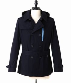 uniform experiment – Hooded Double Trench Coat