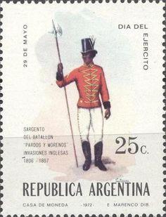 Stamp: Military uniforms (Argentina) Mi:AR 1124,Göt:AR 1590